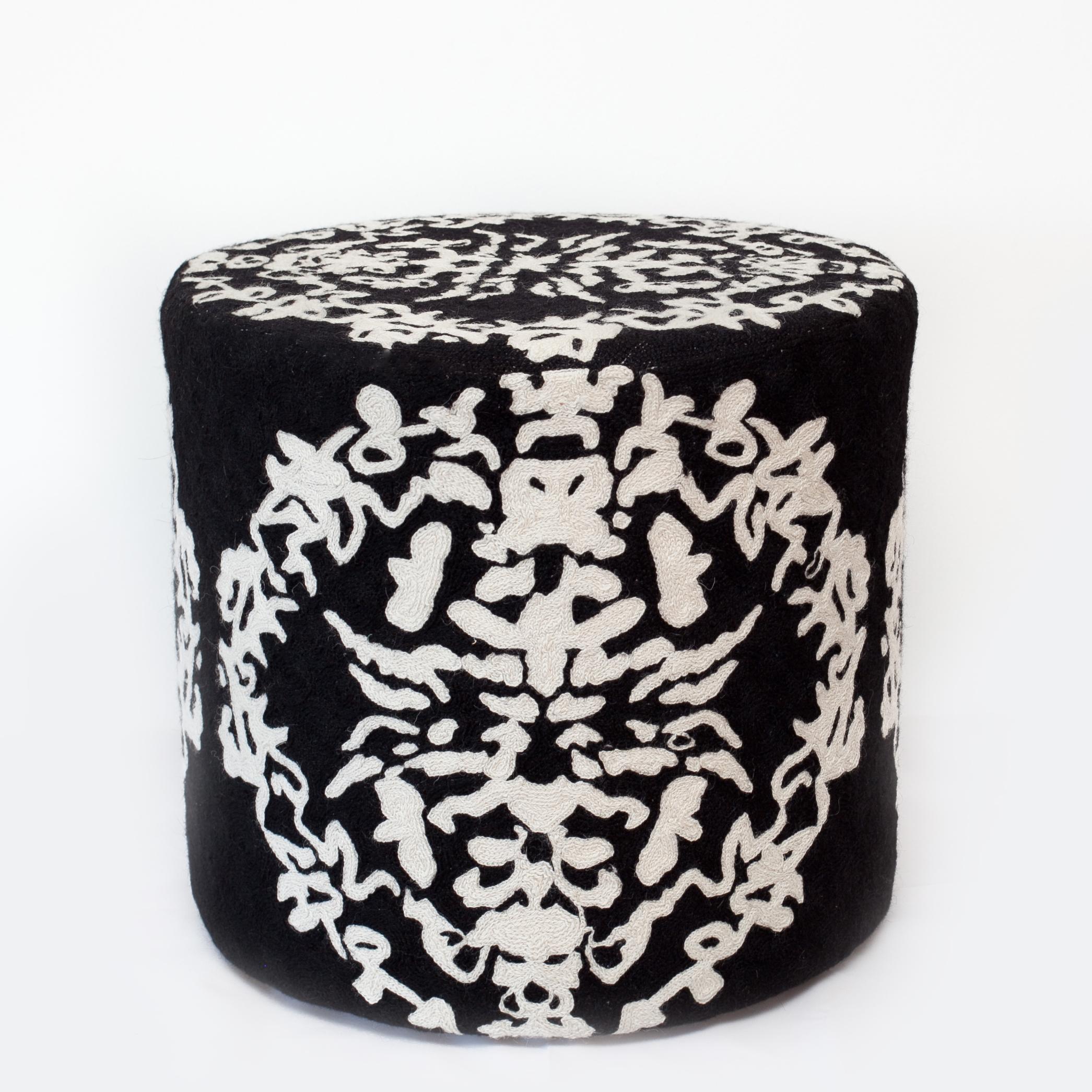Black And White Pouf Pouf Morning Dew By Miurio Eesti Disaini Maja Estonian