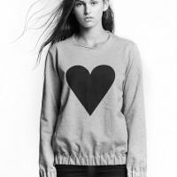 Black Heart Unisex Elastic Sweatshirt by Marit Ilison (1)